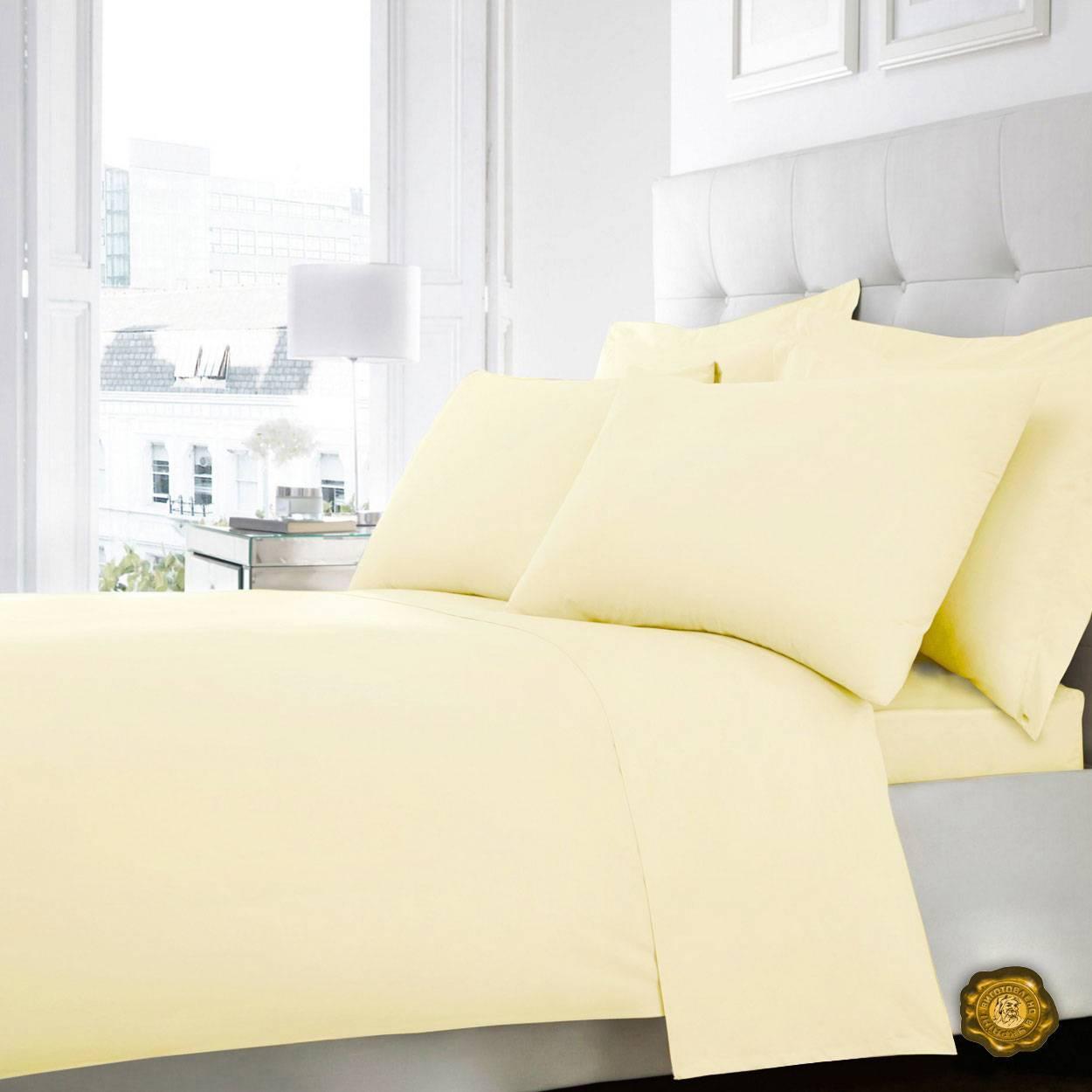 Еней-Плюс Евро постельный комплект В0022 Еней-Плюс, цвет: желтый
