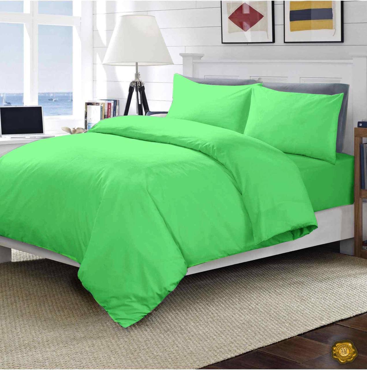 Еней-Плюс Евро постельный комплект МІ0006 Еней-Плюс, цвет: зеленый