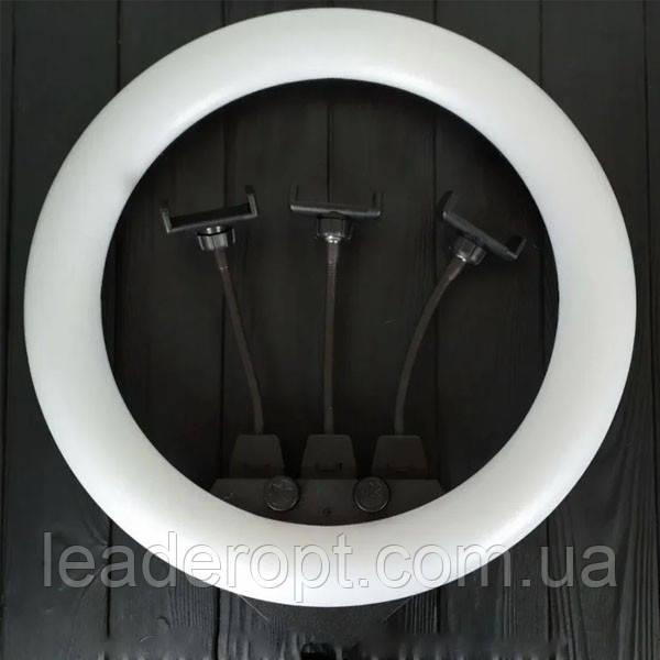ОПТ Кільцева LED лампа ZB-F348 1 діаметром 45 см зі штативом і пультом і трьома власниками