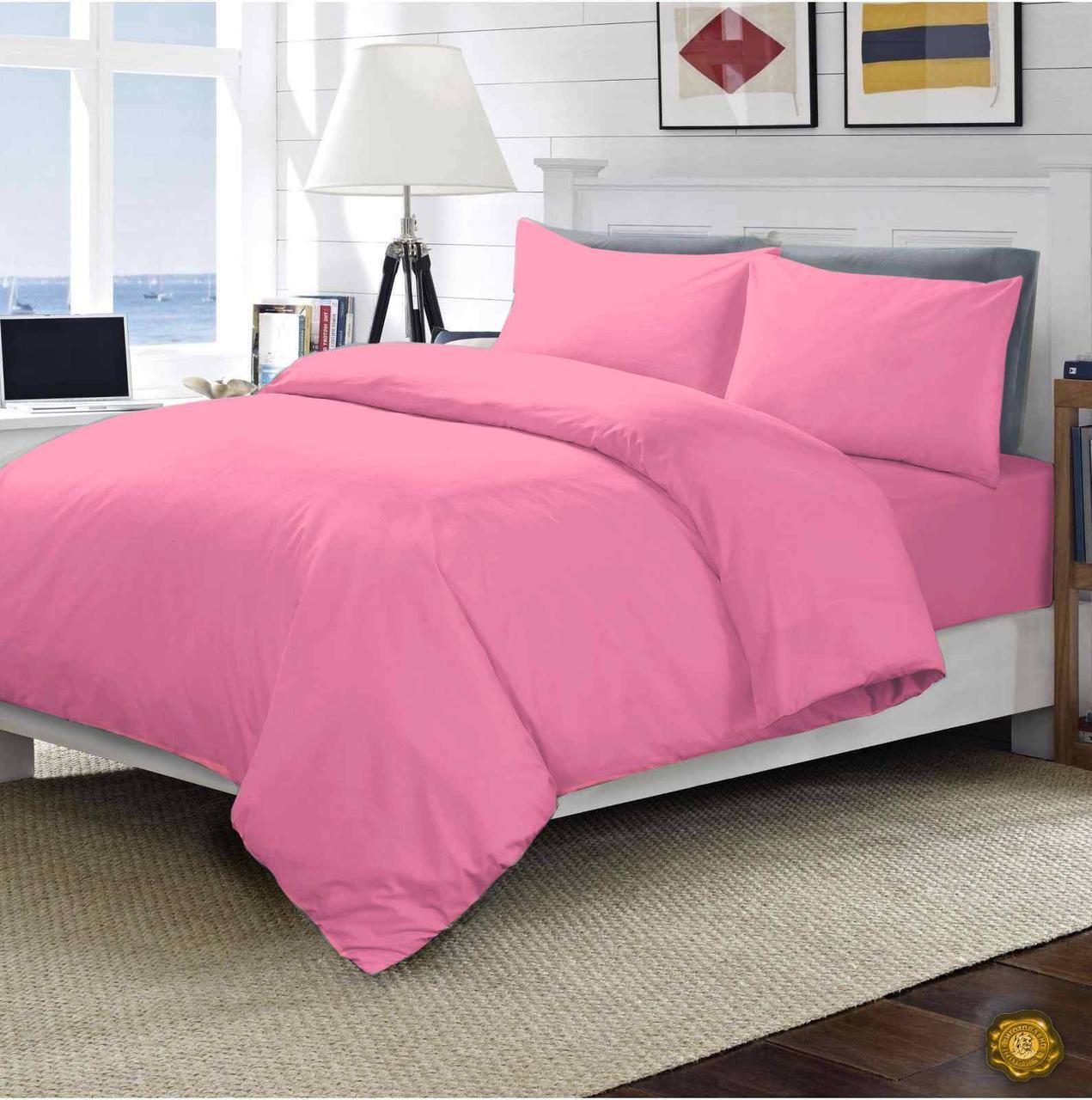 Еней-Плюс Семейный постельный комплект МІ0005 Еней-Плюс, цвет: розовый