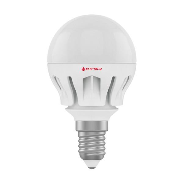 Лампа світлодіодна куля 6W E14 2700K(алюмінієвий корпус)