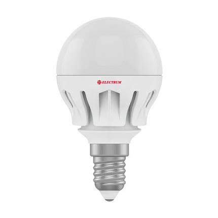 Лампа світлодіодна куля 6W E14 2700K(алюмінієвий корпус), фото 2