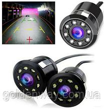 Камера заднего вида универсальная врезная CN185 LED с инфракрасной подсветкой