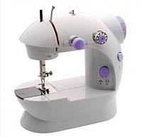 Швейная мини машинка портативная Mini Sewing Machine FHSM-202 с адаптером и педалью, фото 1
