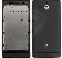 Корпус для Sony Xperia U ST25i, черный, оригинальный