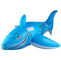 """Надувная игрушка-наездник 183х102см """"Большая белая акула"""" с ручками"""