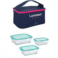 Набор прямоугольных контейнеров Luminarc Keep'n'Box /3 предмета + сумка