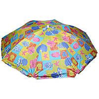 """Зонт пляжный STENSON 1.8 м (0037) Разноцветные квадраты """"Ракушки"""""""