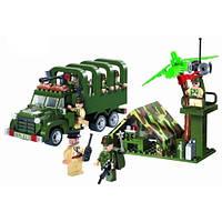 "Конструктор ""Brick - Военный грузовик"" 308 дет., в кор. 34х5х25"