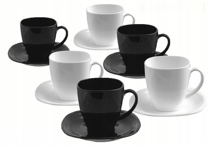 Чайный cервиз Luminarc Carine Black/White из 12 предметов (D2371)