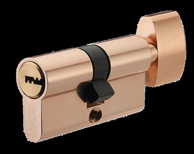 Циліндр Linde A5E30/30T 60 мм латунь 5 ключів