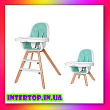 Детский стульчик для кормления CARRELLO Prego CRL-9504 Aqua Green зеленый. Дитячий стільчик для годування