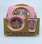 Набор детской посуды из бамбука «LOL» (5 предметов), фото 2