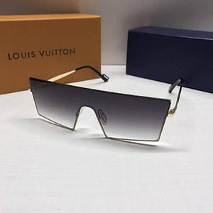 Чоловічі окуляри маска Louis Vuitton Чорні з градієнтом AAA Copy