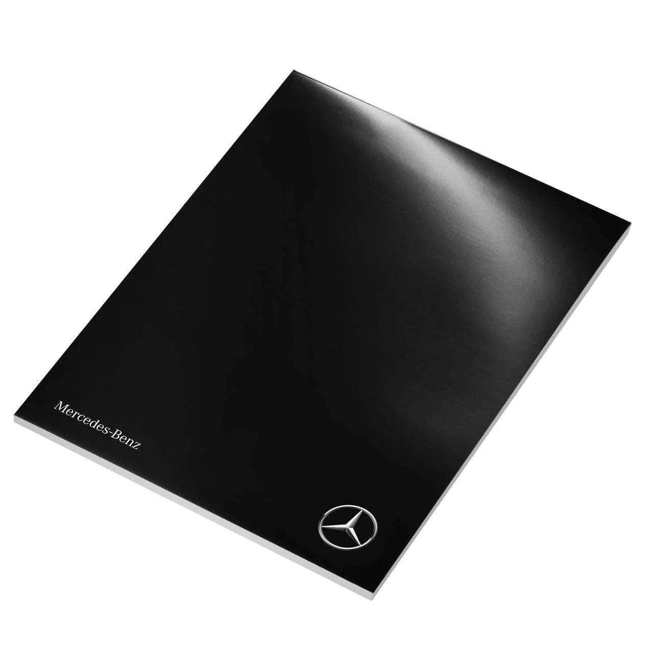 Блокнот Mercedes-Benz Writing Pad, Black / White, артикул B66958366