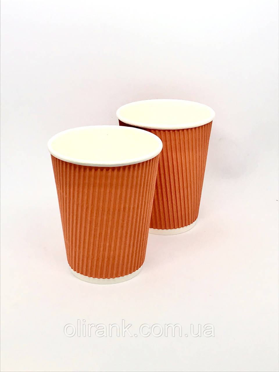 Стакан паперовий RIPPLE  185 мл помаранчевий 25шт/уп (36уп/ящ)  (кр -69 )