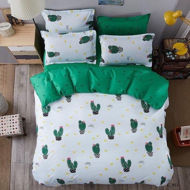 Постельный комплект полуторный-цветок кактуса