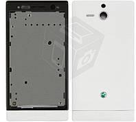 Корпус для Sony Xperia U ST25i, белый, оригинальный