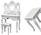 Стіл косметичний з дзеркалом і стільцем GIOSEDIO DTW2 туалетний столик, фото 2