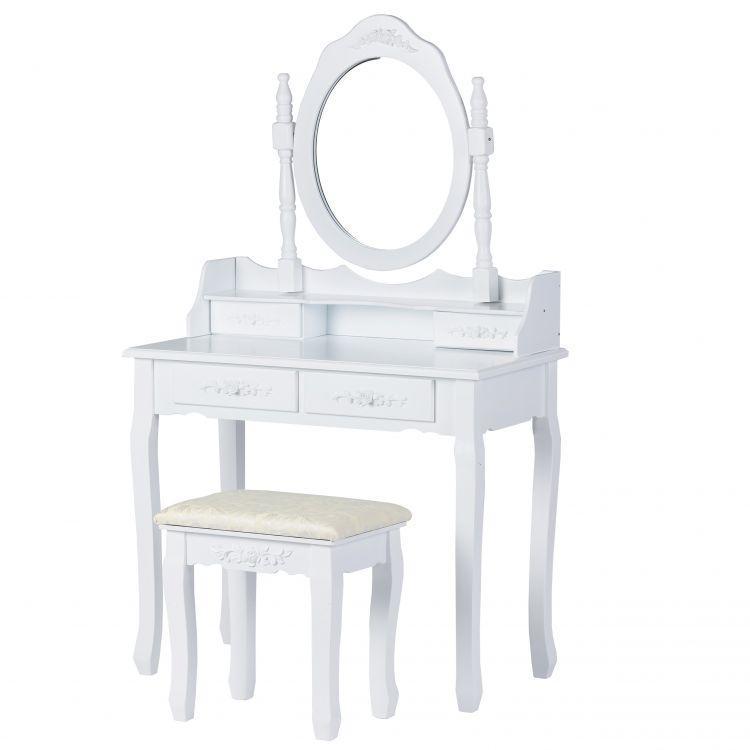 Стол косметический с зеркалом и стулом Good Home W-HY-017 туалетный столик