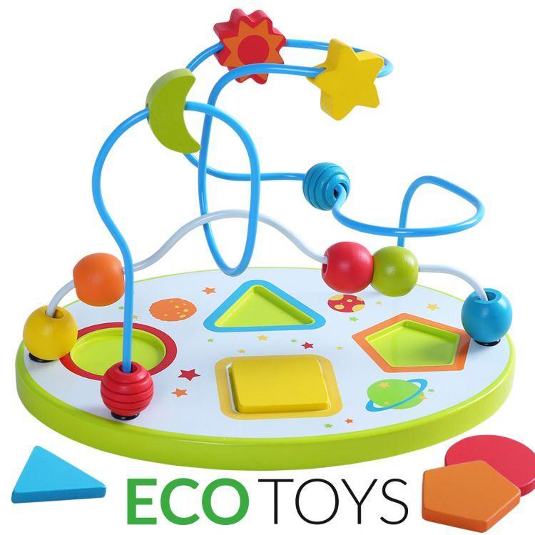 Лабіринт дерев'яний дитячий Ecotoys Mula 1024 для дітей