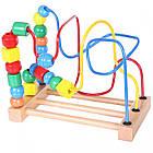 Лабиринт деревянный детский Ecotoys Mula HJD93312 для детей, фото 3