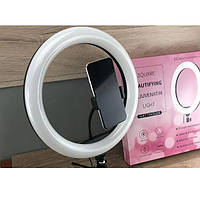 Кольцевая LED лампа S31 33см со штативом  для фото и видео съемки