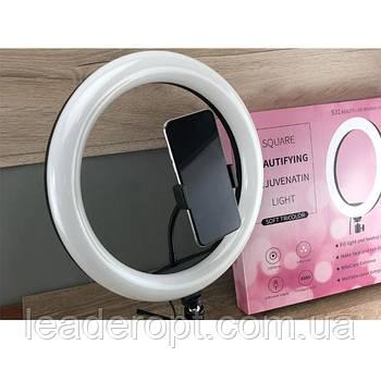 ОПТ Кільцева LED лампа S31 33см зі штативом