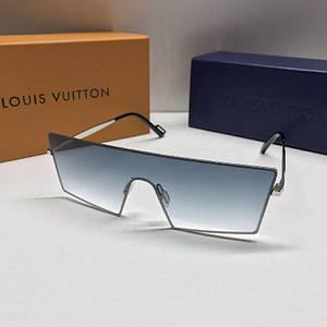 Чоловічі окуляри маска Louis Vuitton Блакитні з градієнтом AAA Copy