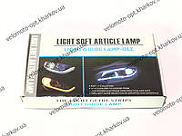 Гибкая светодиодная LED лента для фар автомобиля, мотоцикла,гибкие дневные ходовые огни с бегущим поворотом, фото 1