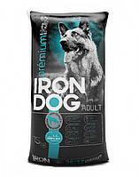 Сухий корм преміум класа для собак Iron Dog 15 кг. (мясний мікс)