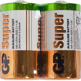 Батарейка GP 14A-S2 щелочная LR14, C Alkaline Super