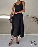 Летнее платье-комбинация на узкой бретеле с фигурной спинкой, 2цвета, Р-р.42-44, 44-46 Код 445Ц, фото 2