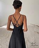 Летнее платье-комбинация на узкой бретеле с фигурной спинкой, 2цвета, Р-р.42-44, 44-46 Код 445Ц, фото 4