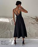 Летнее платье-комбинация на узкой бретеле с фигурной спинкой, 2цвета, Р-р.42-44, 44-46 Код 445Ц, фото 5