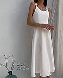 Летнее платье-комбинация на узкой бретеле с фигурной спинкой, 2цвета, Р-р.42-44, 44-46 Код 445Ц, фото 6