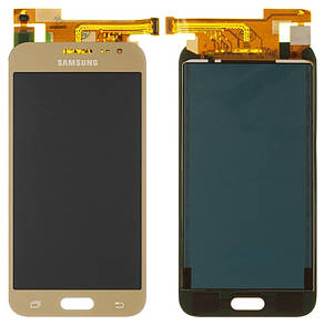 Модуль(сенсор+дисплей) для Samsung J200F,J200G,J200H,J200Y Galaxy J2 TFT З РЕГУЛЮВАННЯМ ЯСКРАВОСТІ золотий, фото 2