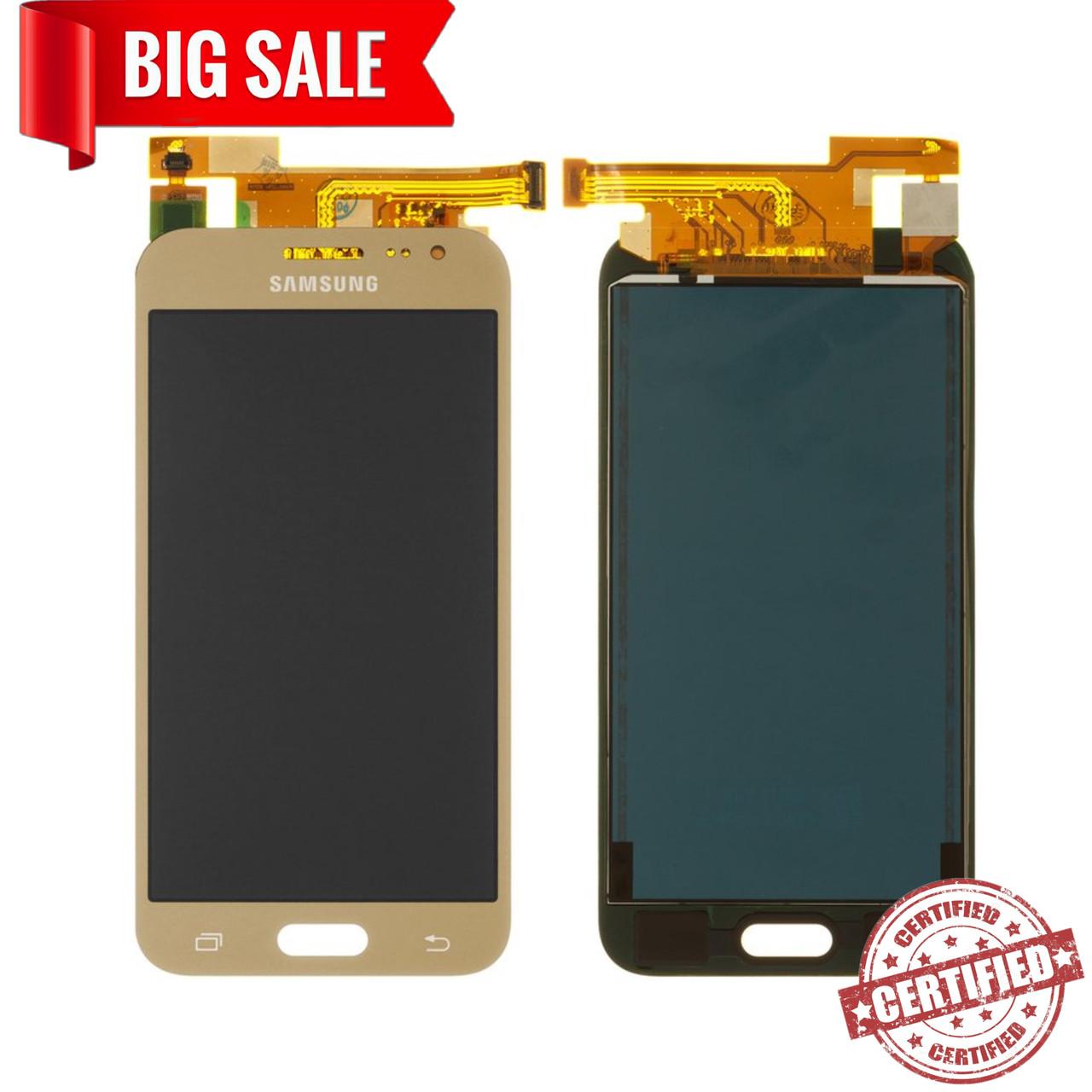 Модуль(сенсор+дисплей) для Samsung J200F,J200G,J200H,J200Y Galaxy J2 TFT З РЕГУЛЮВАННЯМ ЯСКРАВОСТІ золотий