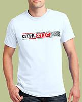 Белая мужская футболка «ATHLETIC NY» / Коллекция 2019 / Современный европейский размер S - ширина 51 см