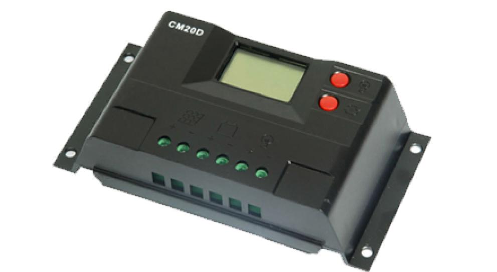Контроллер заряда ACM20D 20A с дисплеем 12/24V+USB  солнечное зарядное устройство