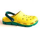 Мужские кроксы сабо из пены ЭВА,  42, 43, 45, 46 шлепанцы сабо желтые с зеленым., фото 4