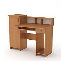 Стол компьютерный в детскую. Компьютерный стол маленький. Пи-Пи-2 ш: 1175 мм. в: 736 мм + 220 мм г: 600 мм