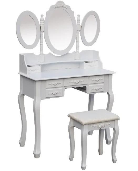 Стіл косметичний з дзеркалом і стільцем GIOSEDIO DTW2 туалетний столик