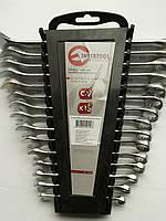 Набор ключей комбинированных Cr-V INTERTOOL  15 ед. 6-19, 22 мм