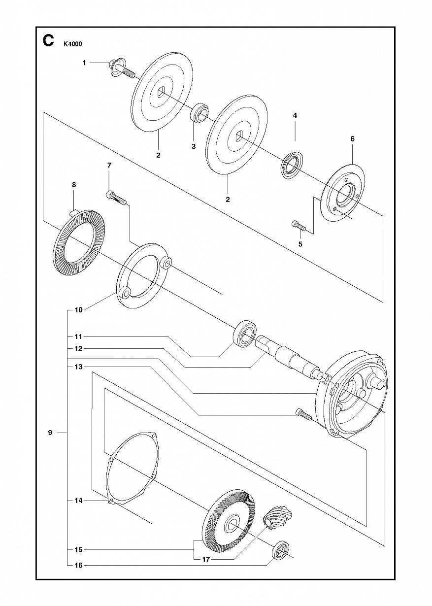 3 ШЕСТЕРНІ | K 4000, 2018-03 Різьбяр Хускварна електричний | дисковий |