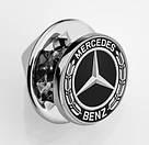 Значок Mercedes-Benz Pin, Laurel Leaf Badge, Silver-coloured / Black, артикул B66953551, фото 2