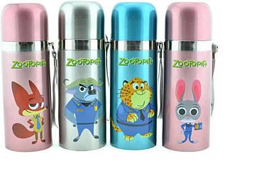 Детский термос Zootopia YG-1 350 мл персонажи с мультфильма Зверополис