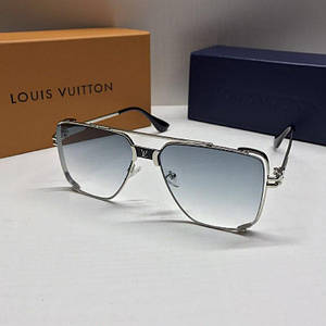 Чоловічі окуляри авіатори Louis Vuitton Блакитні з градієнтом AAA Copy