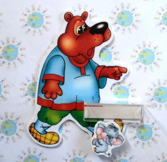 Стенд для рисунка и поделки Медведь