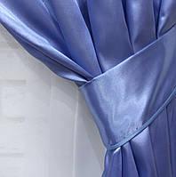 Однотонная ткань атлас. Ширина в рулоне 1,5м. Цвет голубой. 12ша